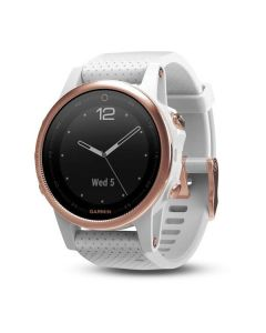 Garmin Fenix 5S Sapphire GPS Watch - Rose Gold/White