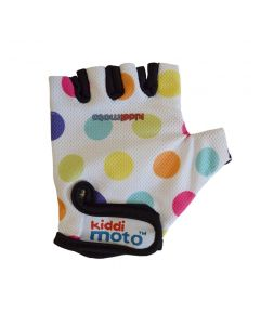 Kiddimoto Cycling Gloves - Pastel Dotty