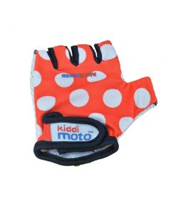 Kiddimoto Cycling Gloves - Red Dotty