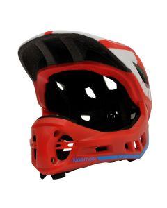 Kiddimoto Ikon Full Face Kids Helmet - Red/Blue