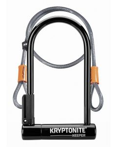 Kryptonite Keeper 12 Standard U-Lock with Flex Cable