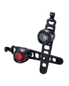 Cateye Orb Rechargeable Front and Rear Light Set