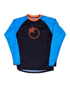 Orange Pennine Trail Long Sleeve Jersey - Blue/Black