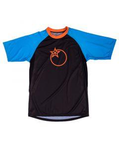 Orange Pennine Trail Short Sleeve Jersey - Blue/Black