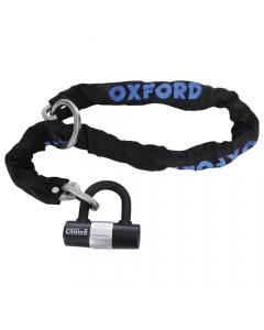 Oxford Chain8 1m Chain Lock and Mini Shackle