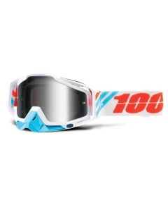 100% Racecraft Goggles - Calculus Ice - Mirror Silver Lens