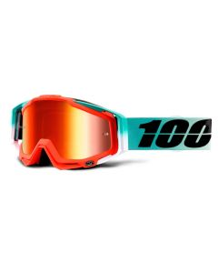 100% Racecraft Goggles - Cubica - Mirror Red Lens