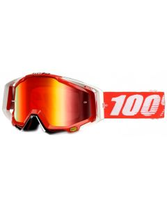 100% Racecraft Goggles - Fire Red - Mirror Red Lens