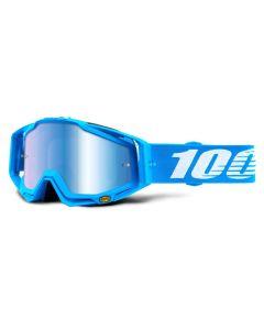 100% Racecraft Goggles - Monoblock - Mirror Blue Lens