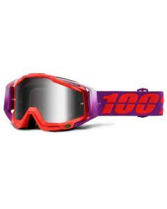 100% Racecraft Goggles - Watermelon - Mirror Silver Lens