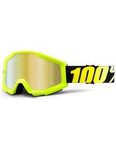 100% Strata Jr Goggles - Neon Yellow