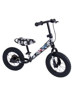 Kiddimoto Super Junior Max 12-inch Balance Bike - Skullz